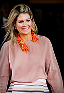 Queen Maxima, honorary chairman of More Music Signing of the cooperation agreement for music education, Drachten, the Netherlands - 20 Sep 2018 copyrught robin utrecht