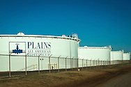 1/13/2016, Plains All American Pipeline oil storage tanks in Cushing, Oklahoma. An increase in earthquakes spread worry about the safety of the tanks.
