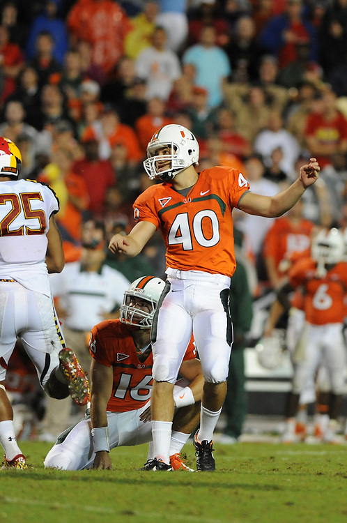 2011 Miami Hurricanes Football @ Maryland<br /> <br /> Jake Wieclaw
