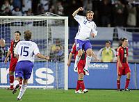 Fotball<br /> VM-kvalifisering<br /> Finland v Tyskland<br /> 10.09.2008<br /> Foto: Witters/Digitalsport<br /> NORWAY ONLY<br /> <br /> Jubel 3:2 v.l. Markus Heikkinen, Daniel Sjølund Finnland<br /> Fussball Laenderspiel WM-Qualifikation Finnland - Deutschland
