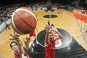 DESCRIZIONE : Bologna Lega A1 2006-07 Playoff Semifinale Gara 4 VidiVici Virtus Bologna Armani Jeans Milano <br /> GIOCATORE : Dante Calabria Diego Fajardo <br /> SQUADRA : Armani Jeans Milano <br /> EVENTO : Campionato Lega A1 2006-2007 Playoff Semifinale Gara 4 <br /> GARA : VidiVici Virtus Bologna Armani Jeans Milano <br /> DATA : 08/06/2007 <br /> CATEGORIA : Special Rimbalzo <br /> SPORT : Pallacanestro <br /> AUTORE : Agenzia Ciamillo-Castoria/M.Marchi