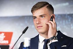 July 23, 2018 - Madrid, Spain - Andriy Lunin during press conference of his presentation as new Real Madrid goalkeeper at Santiago Bernabéu Stadium in Madrid, Spain. July 23, 2018. (COOLMEDIA/BorjaB.Hojas) (Credit Image: © Coolmedia/NurPhoto via ZUMA Press)