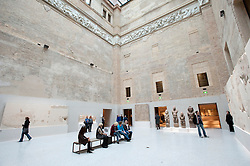 Greek courtyard at Neues Museum or New Museum on Museumsinsel or Museum Island in Berlin