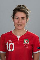 TREFOREST, WALES - Tuesday, February 14, 2011: Wales' Danielle Oates. (Pic by David Rawcliffe/Propaganda)
