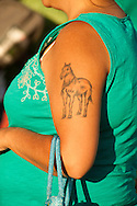 Tattoo, Milk River Indian Days Pow Wow, Fort Belknap Indian Reservation, Montana