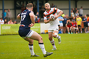 CORRECTION:- Bradford Bulls loose forward Damian Sironen (10)  in action  during the Kingstone Press Championship match between Swinton Lions and Bradford Bulls at the Willows, Salford, United Kingdom on 20 August 2017. Photo by Simon Davies.