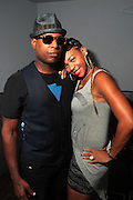 August 20, 2012-New York, NY: (L-R) Recording Artist Talib Kweli and DJ Equee backstage at the Idle Warship Concert featuring Talib Kweli & Res Produced by Jill Newman Productions and held at the Highline Ballroom on August 19, 2012 in New York City. A collaboration between longtime friends, hip-hop luminary Talib Kweli and critically acclaimed soulful singer and songwriter Res, Idle Warship is a perfect example of how a whole can become greater than the sum of its parts. Idle Warship was born out of sheer experimentation in the studio and have become one of the premiere live bands in the U.S. (Terrence Jennings)