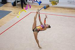 Halkina Katsiaryna of Belarus competes during 29th MTM - International tournament in rhythmic gymnastics Ljubljana, on March 12, 2016 in gymnastics center Ljubljana, Ljubljana, Slovenia.  Photo by Grega Valancic / Sportida