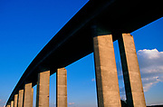 A753WC Orwell bridge concrete support columns Suffolk England