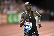 Joshua Cheptegei (UGA) wins the 5,000m in 12:57.41 in an IAAF Diamond League final during the Weltkasse Zurich at Letzigrund Stadium, Thursday, Aug. 29, 2019, in Zurich, Switzerland. (Jiro Mochizuki/Image of Sport)