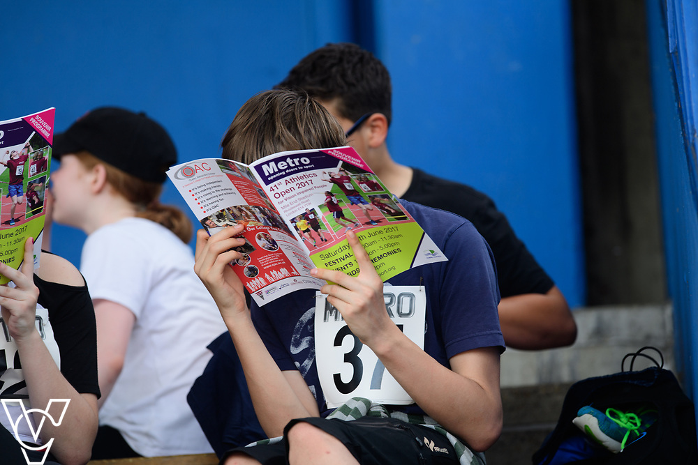 Metro Blind Sport's 2017 Athletics Open held at Mile End Stadium.  Spectators<br /> <br /> Picture: Chris Vaughan Photography for Metro Blind Sport<br /> Date: June 17, 2017
