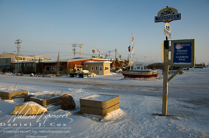 Street scene in Churchill, Manitoba