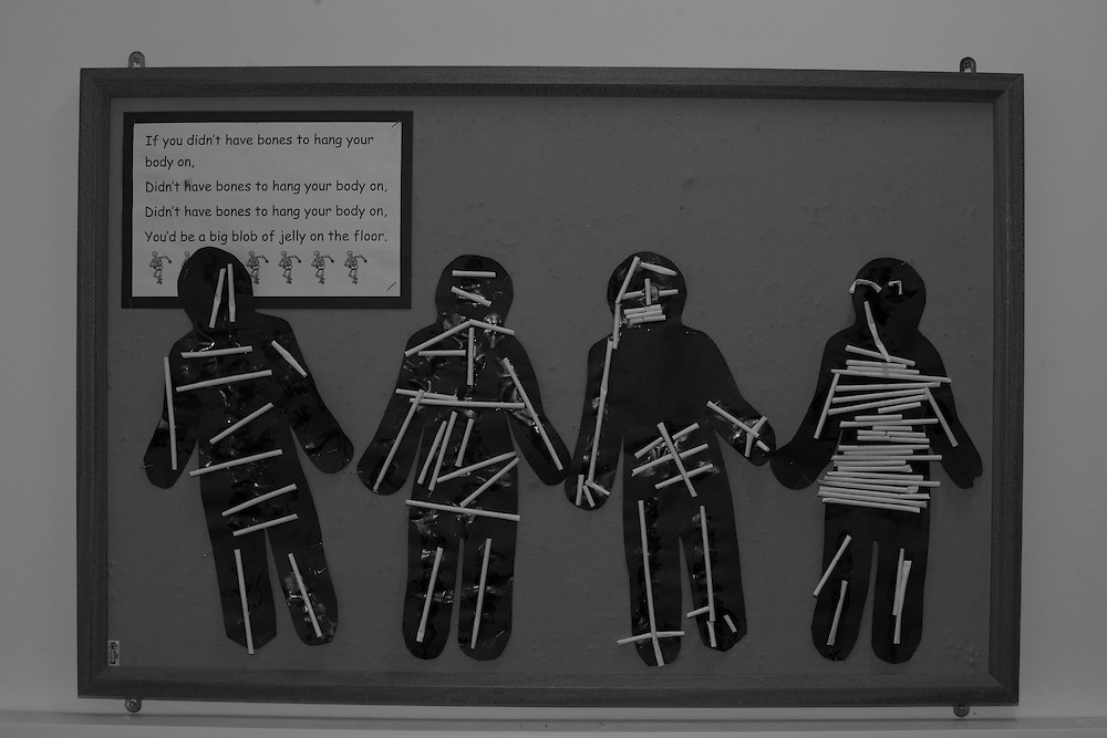 The skeletal structure according to 5 year olds on display at school in Berkhamsted, England  Thursday, Dec. 3, 2015 (Elizabeth Dalziel) #thesecretlifeofmothers #bringinguptheboys #dailylife