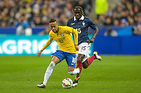 Neymar / Bacary Sagna  - 26.03.2015 - France / Bresil - Match Amical<br />