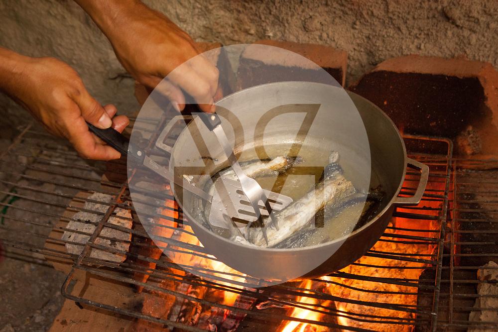 KOLUMBIEN - TAGANGA - Fische werden auf dem Feuer frittiert - 5. April 2014 © Raphael Hünerfauth - http://huenerfauth.ch