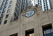 Chicago, Illinois, April, 2008-The Art Deco Chicago Board of Trade building, established in 1848, is the world's oldest futures and options exchange.