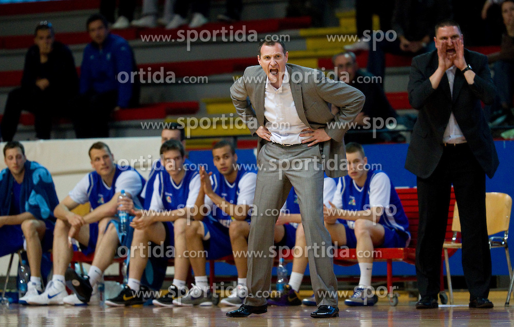 Head coach of Helios Rado Trifunovic during basketball match between KK Geoplin Slovan and KK Helios Domzale in 6th Round of Telemach Slovenian Champions League, on April 13, 2011, in Sports Arena Kodeljevo, Ljubljana, Slovenia. Helios Domzale  defeated Geoplin Slovan 98-87 after overtime. (Photo by Vid Ponikvar / Sportida)