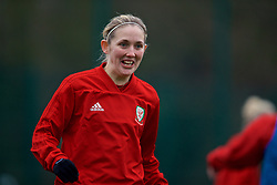 CARDIFF, WALES - Sunday, January 20, 2019: Wales' Cori Williams during a training session at Dragon Park ahead of the International Friendly game against Italy. (Pic by David Rawcliffe/Propaganda)