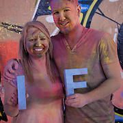 Georgina Loe and Zac Hill. More than a hundred 16 - 25 yr olds joined a creative paint-fuelled event to express their support for the Enough Food IF campaign. While making the video was a fun and colourful process, the message remains a serious one: global hunger is outrageous and unacceptable.