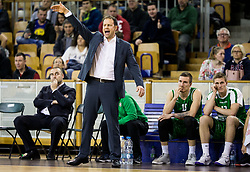Luka Bassin, assistant coach of Petrol Olimpija during basketball match between KK Ilirija and KK Petrol Olimpija in 10th Round of Nova KBM Basketball League 2017/18, on December 17, 2017 in Hala Tivoli, Ljubljana, Slovenia. Photo by Vid Ponikvar / Sportida