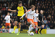 Luton Town midfielder Jack Stacey on the ball during the EFL Sky Bet League 1 match between Burton Albion and Luton Town at the Pirelli Stadium, Burton upon Trent, England on 27 April 2019.