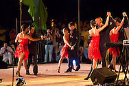 Salsa dancers at Fiesta de la Cultura de Iberoamerica in Holguin, Cuba.
