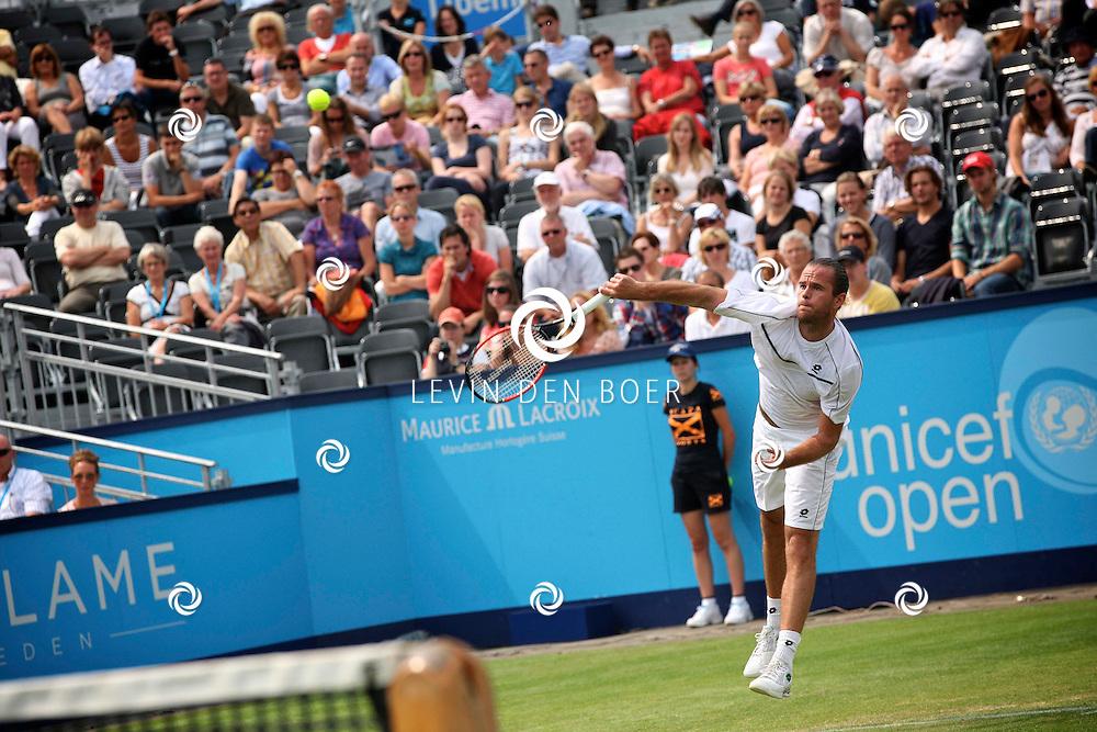 ROSMALEN - Xavier Malisse speelt vandaag op het Centre Court tegen Jesse Huta Galung.  Met op de foto tennisser Xavier Malisse. FOTO LEVIN DEN BOER - PERSFOTO.NU
