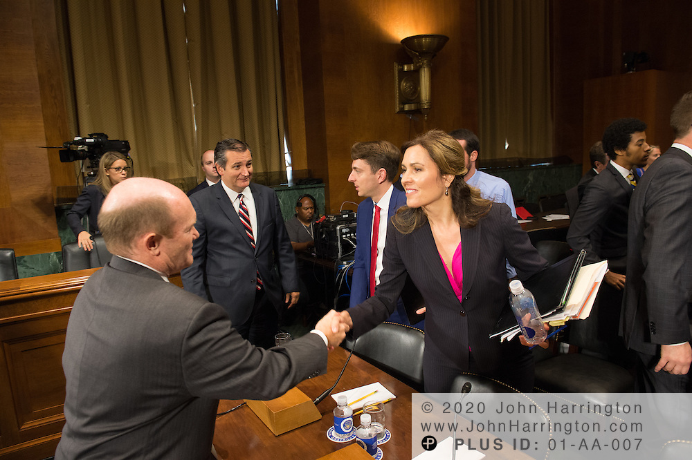 "Ms. Dawn Grove, Corporate Counsel<br /> Karsten Manufacturing greets Sen. Koons Wednesday September 14, 2016, before the Subcommittee on Oversight, Agency Action, Federal Rights and Federal Courts, testimony was also heard from The Honorable Lawrence E. Strickling, Assistant Secretary for Communications and Information and Administrator<br /> National Telecommunications and Information Administration (NTIA), United States Department of Commerce;  Mr. Göran Marby, CEO and President, Internet Corporation for Assigned Names and Numbers (ICANN); Mr. Berin Szoka, President, TechFreedom; Mr. Jonathan Zuck, President, ACT The App Association;  Ms. Dawn Grove, Corporate Counsel<br /> Karsten Manufacturing; Ms. J. Beckwith (""Becky"") Burr, Deputy General Counsel and Chief Privacy Officer, Neustar;  Mr. John Horton, President and CEO, LegitScript;  Mr. Steve DelBianco, Executive Director, NetChoice; Mr. Paul Rosenzweig, Former Deputy Assistant Secretary for Policy, U.S. Department of Homeland Security."