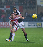Dundee&rsquo;s Julen Etxabeguren and Hamilton&rsquo;s Louis Longridge - Dundee v Hamilton Academical in the Ladbrokes Scottish Premiership at Dens Park<br /> <br />  - &copy; David Young - www.davidyoungphoto.co.uk - email: davidyoungphoto@gmail.com