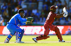 West Indies' Kemar Roach during the ICC Cricket World Cup group stage match at Emirates Old Trafford, Manchester.