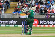 Wicket - Sabbir Rahman of Bangladesh is bowled by Jasprit Bumrah of India during the ICC Cricket World Cup 2019 match between Bangladesh and India at Edgbaston, Birmingham, United Kingdom on 2 July 2019.