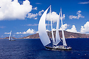 Twizzle and Kokomo sailing during the Caribbean Superyacht Regatta and Rendezvous, race 2.
