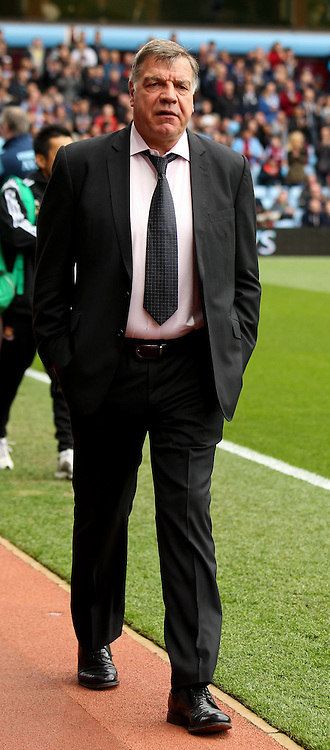 West Ham United manager Sam Allardyce before the Barclays Premier League match at Villa Park, Birmingham<br /> Picture by Tom Smith/Focus Images Ltd 07545141164<br /> 09/05/2015