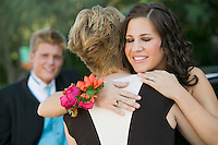 Friends Hugging at Prom