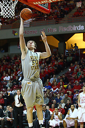 22 February 2012:  Jake White during an NCAA Missouri Valley Conference mens basketball game between the Wichita State Shockers and the Illinois State Redbirds in Redbird Arena, Normal IL