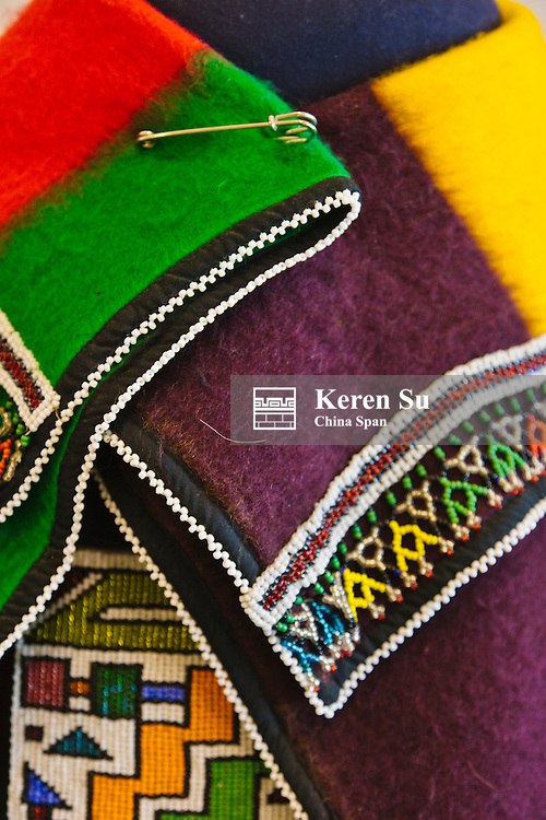 Colorful woven fabric, Johannesburg, South Africa