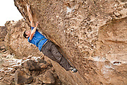 Alex Honnold and Kenny ____ work on boulder problems in the The Sads in Bishop, Calif.