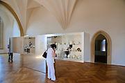 Albrechtsburg, innen, Porzellanausstellung, Meißen, Sachsen, Deutschland.|.Albrechtsburg, interior, china exhibition, Meissen, Saxony, Germany.