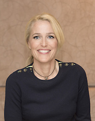 May 3, 2017 - London, United Kingdom, U.S. - GILLIAN ANDERSON promotes TV series American Gods. Gillian Leigh Anderson (born August 9, 1968), is an American-British film, television and theatre actress, activist and writer. Her credits include the roles of FBI Special Agent Dana Scully in the long-running and widely popular series The X-Files, ill-fated socialite Lily Bart in 'The House of Mirth' (2000), and DSI Stella Gibson on the BBC crime drama television series The Fall. Among other honours, Anderson has won a Primetime Emmy Award, a Golden Globe Award and two Screen Actors Guild Awards. (Credit Image: © Armando Gallo via ZUMA Studio)