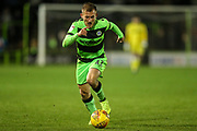 Forest Green Rovers George Williams(11) on the ball during the EFL Trophy group stage match between Forest Green Rovers and U21 Arsenal at the New Lawn, Forest Green, United Kingdom on 7 November 2018.
