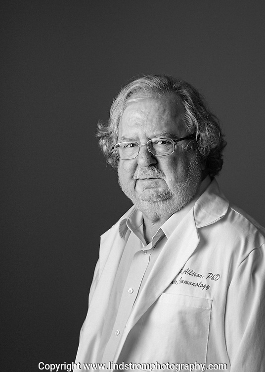 Portrait of Jim Allison.<br /> Photographed by editorial and commercial Houston photographer Nathan Lindstrom