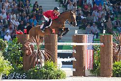 Alonso Valdez Prado, (PER), Ferrero Van Overis - First Round Team Competition Jumping Speed - Alltech FEI World Equestrian Games™ 2014 - Normandy, France.<br /> © Hippo Foto Team - Leanjo De Koster<br /> 03-09-14