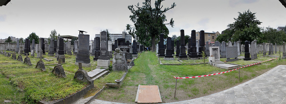 A Panorama of The Jewish cemetery in Zilina, Slovakia on Sunday July 3rd 2011. (Photo by Brian Garfinkel)