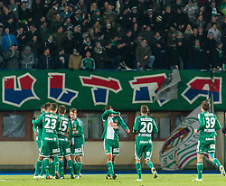 24.01.2015, Ernst Happel Stadion, Wien, AUT, FS Vorbereitung, Fußball Testspiel, SK Rapid Wien vs FC Schalke 04, im Bild Jubel Rapid // during a international football frindly match between SK Rapid Vienna and FC Schalke 04 at the Ernst Happel Stadium, Vienna, Austria on 2015/01/24. EXPA Pictures © 2015, PhotoCredit: EXPA/ Michael Gruber