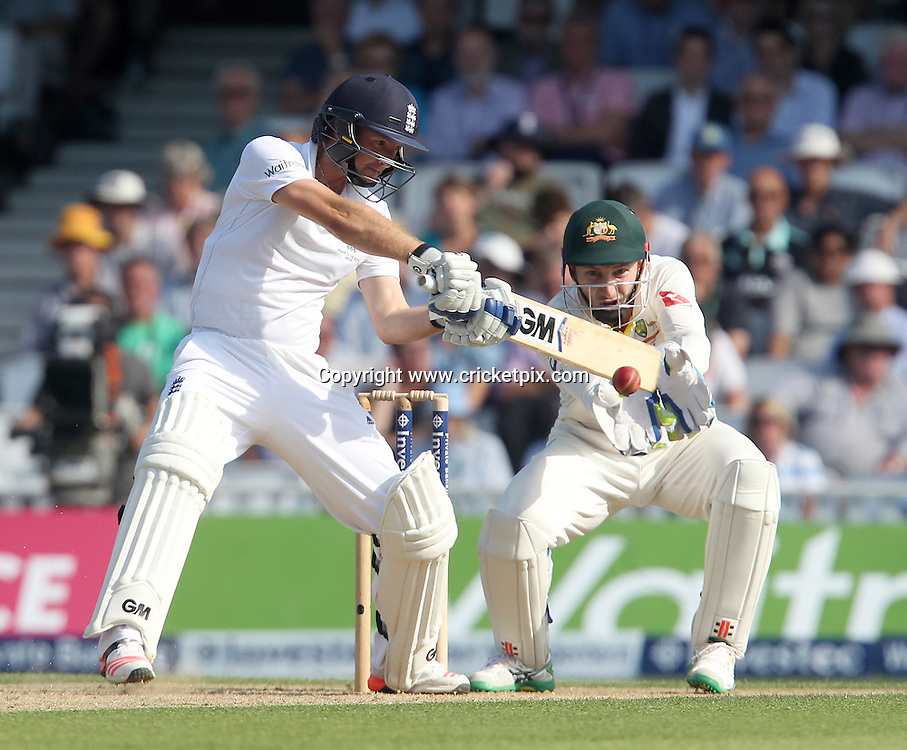 Adam Lyth of England batting, Peter Nevill of Australia keeping wicket. England v Australia, 5th and final Ashes Test, Day 2, Oval, London. 21/08/2015 © Matthew Impey/www.cricketpix.com