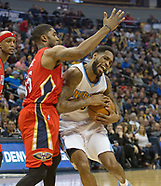 The Pelicans v the Nuggets 26 March 2017