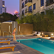 Schmidt Design Group, Aloft on Cortez Hill, San Diego, California, Oliver McMillan Inc., Residential Mid-rise, Landscape Architecture, Landscape Design, Residential Design, Inner Patio, fire Pit, Swilling Pool, Residential Mixed-use