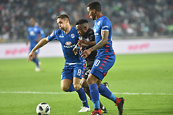 South Africa: Johannesburg: Orlando Pirates Paseka Mako and SuperSport United Dean Furman and Grant Kekana during the Absa Premiership at the Orlando stadium, Gauteng. <br />Picture: Itumeleng English/African News Agency (ANA)