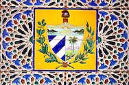 Tiles at Casa de Iberoamerica, Holguin, Cuba.