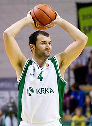 Marko Durkovic of Krka during basketball match between KK Krka and Union Olimpija Ljubljana of Round 7th of ABA League 2011/2012, on November 12, 2011 in Arena Leon Stukelj, Novo mesto, Slovenia. (Photo By Vid Ponikvar / Sportida.com)